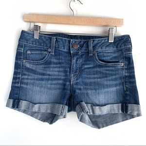 AEO Mid-Rise Stretchy Jean Shorts, 4